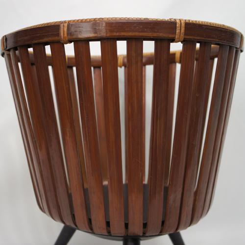 1950年代 竹工芸 竹籠スタンド