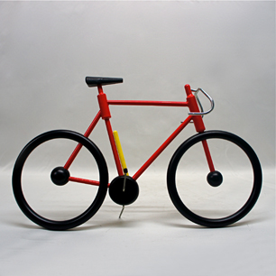 80's France Wood Bicycle Objet