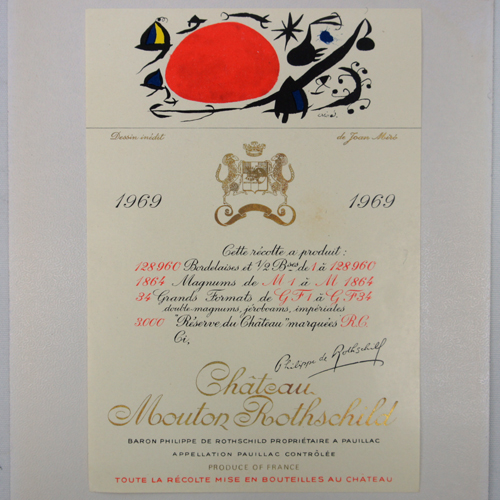 Château Mouton-Rothschild 1969 Label by