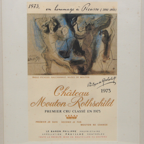 Château Mouton-Rothschild 1973 Label-Lithograph by