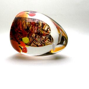 室 伸一 Art Glass Egg(B)