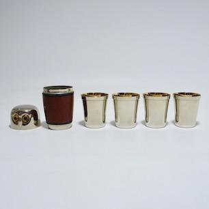 70's West Germany Owl Nesting Shot Glass Set