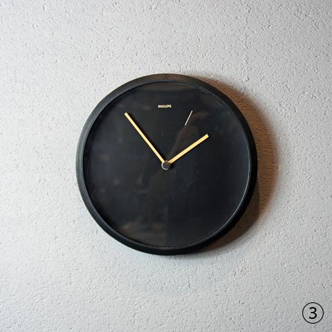 80's Philips Wall Clock 3Type