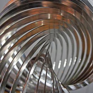 Infinity Twist Metal Hanging Sculpture