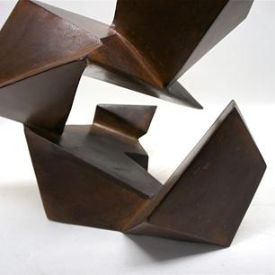 Geometric Molding Rusted Iron Sculpture