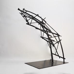 Welding Cast Iron Abstruct Sculpture