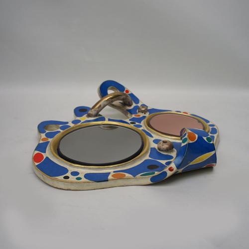 Abstract Art Ceramic Wall Mirror