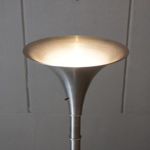 40's American Art Deco / Machine Age Bamboo Stick Floor Lamp