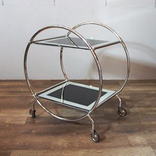 アールデコワゴン「円と四角の立体構成」