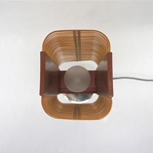 工芸竹花入れ リメイクテーブルランプ