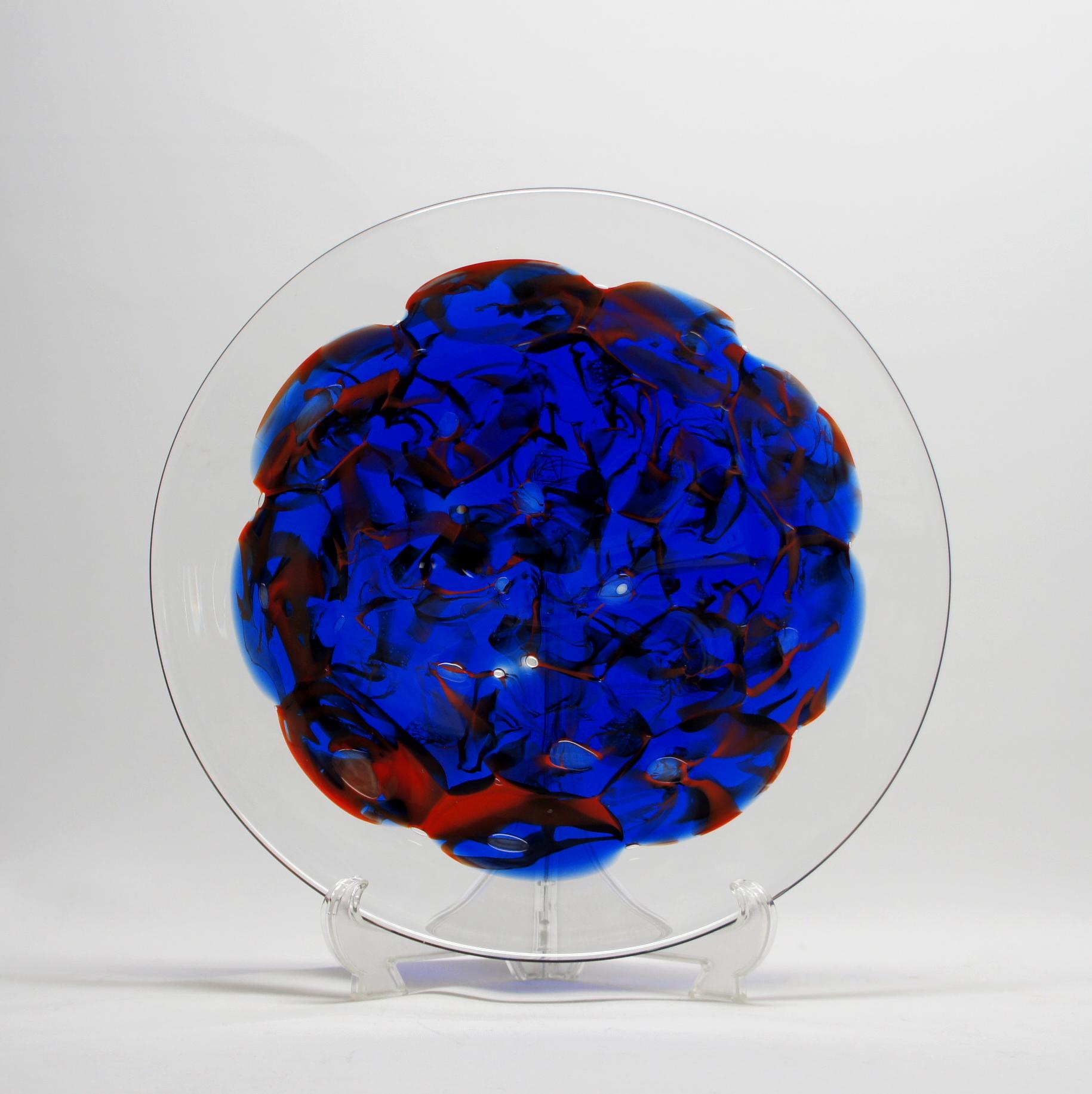 チェコガラス 神秘的な異次元の水面
