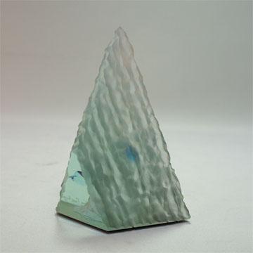 Art Glass Aquarium Objet(Triangular A)
