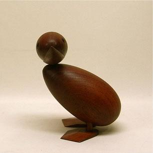 Denmark Vintage Teak Large Mother Duck