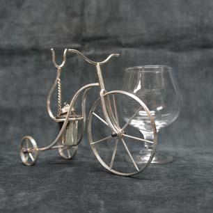 Italy Vintage Sliverplate Tricycle Brandy Warmer