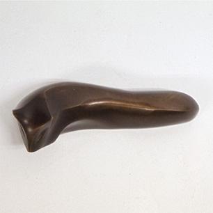 「秀信」銘 狐ブロンズ彫刻