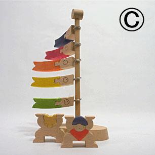 木工クラフト作家3人の「五月飾り」