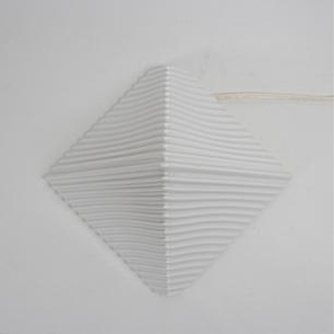 80's Porcelain Pyramid Lamp