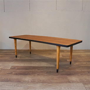 60's 日本 チーク&オーク コンビネーションテーブル/シェルフ