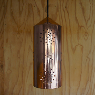 70's Copper Watermark Pendant Lamp