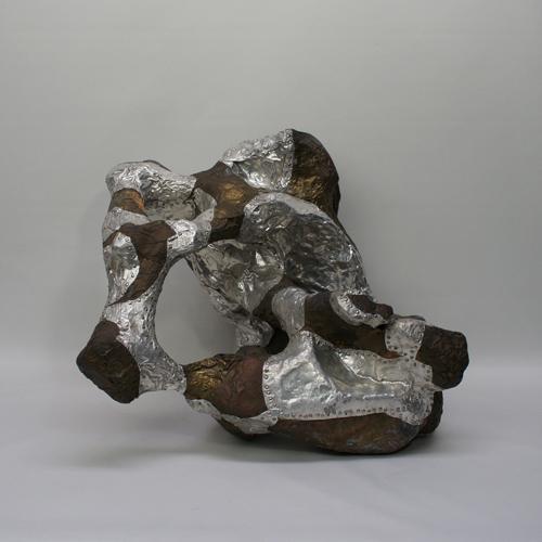 銅・アルミ貼り アブストラクト アートオブジェ