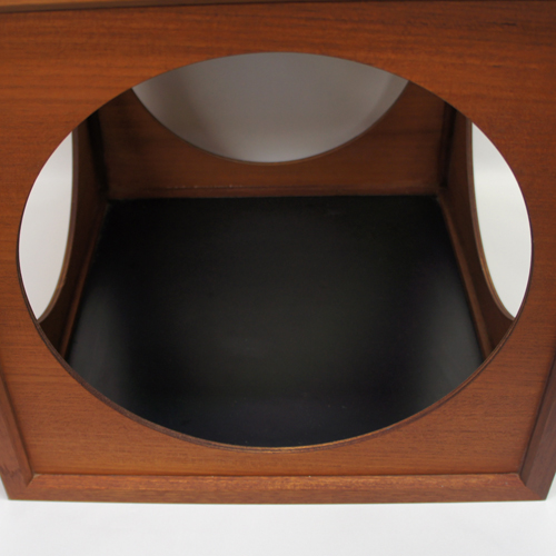 60's Japan Teak Cubic Table / Box