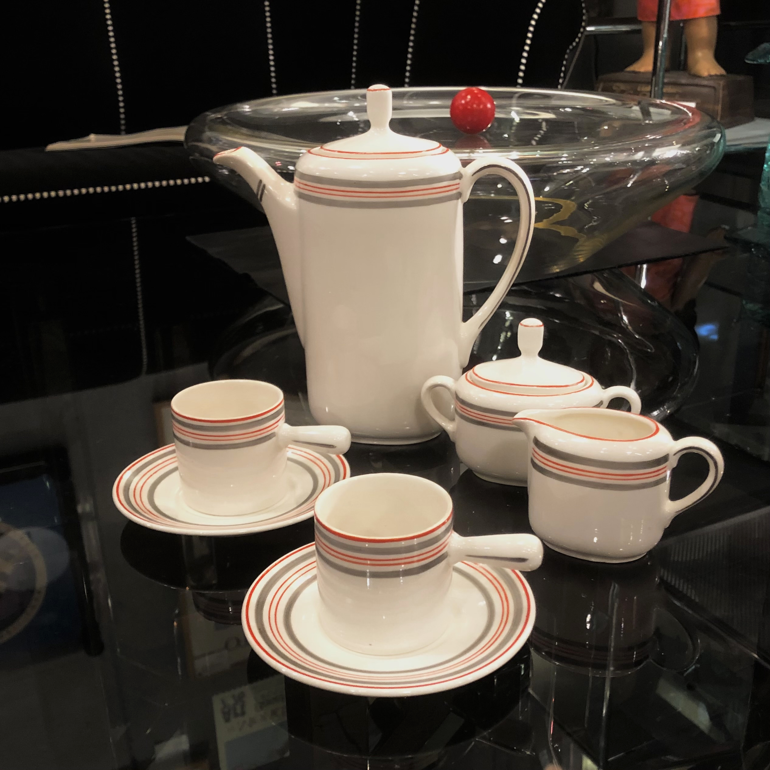50's Czech Pottery Coffee Service 15 Piece Set for