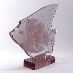 Czech「Bohemia」Glass Fish Sculpture