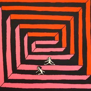 1969年 画廊春秋「山崎英介展」シルクスクリーンポスター
