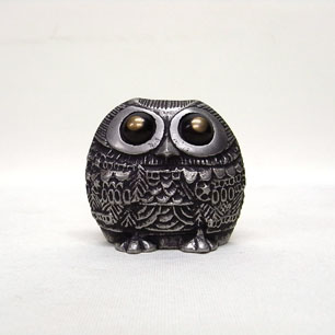 Pewter Owl Objet-Bronze eyes