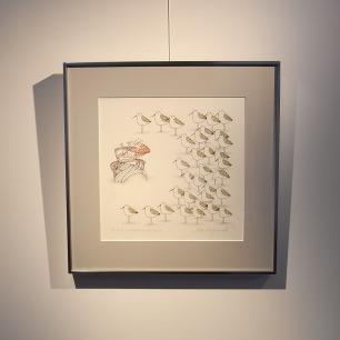松本イッキ/ Ikki Matsumoto <br>「A FIDDLER ON THE BEACH」<br>リトグラフ