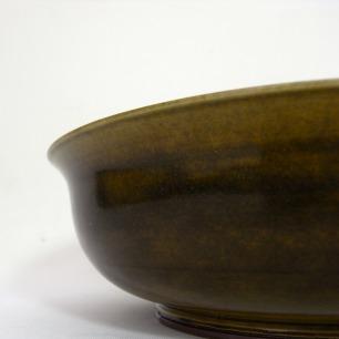 Berndt Friberg Green Glazed Bowl