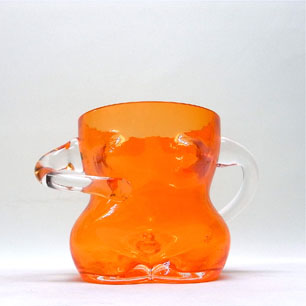 80's Glamorous Body Glass Pitcher & Bucket