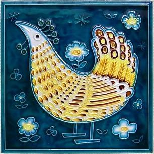 白山陶器の優しい鳥