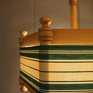 フィンランドの糸巻きランプ