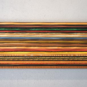 五十嵐 威暢「水平な気分 / Horizonal Feeling」Wood Sculpture