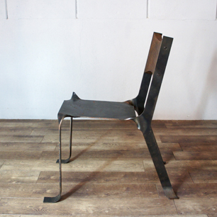 Art Chair Made Of single steel plate