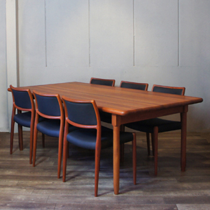 Danish's most popular teak wood vintage dining set