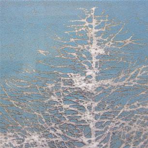 星襄一 木版画「早春」