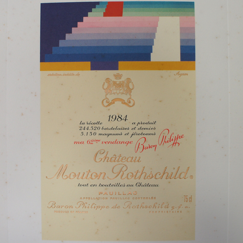 Château Mouton-Rothschild 1984 Label-Lithograph by