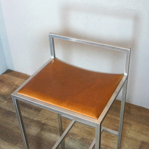 Full Order Made Leather Seat & Stainless Frame High Chair