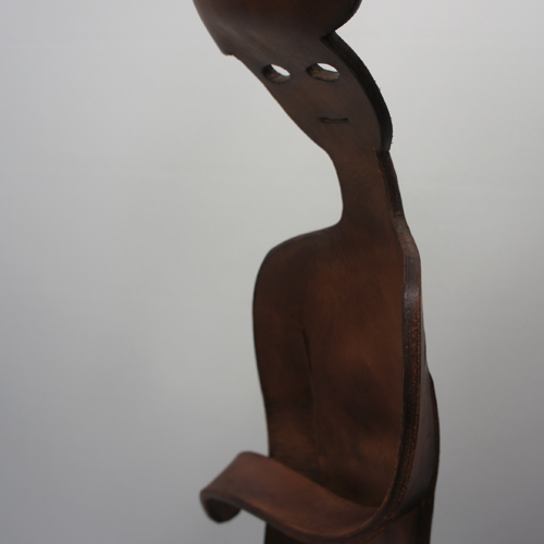 Vintage Leather Craft Humanoid Objet
