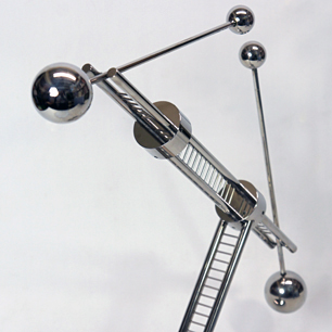 正木隆 抽象金属彫刻/ Metal Moving Sculpture