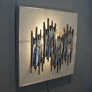 Abstract Metal Sculpture Wall Art Lamp