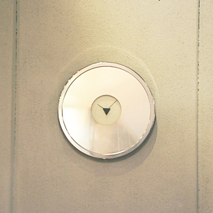 80's Design Round Mirror Clock