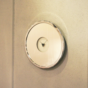 80's Design Round Mirror Clock