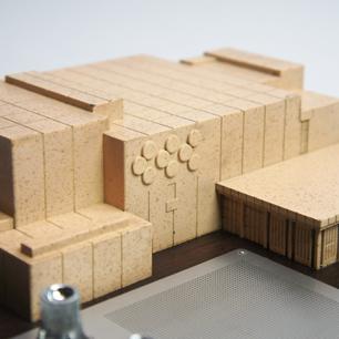 佐藤武夫/山下寿郎 他設計 '73年 NHKホール落成記念7石ラジオ付模型