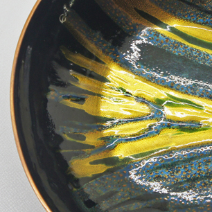 60's Norway Enamel / Cooper Art Bowl by