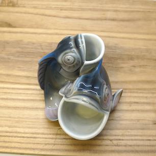 オールド香蘭社 双魚フィギュアの器