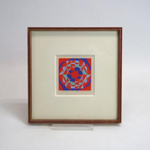 オノサトトシノブ「Silk-76」シルクスクリーン 124/150