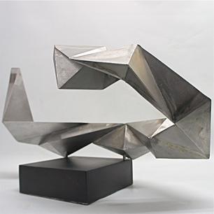 Polygonal Metal Sculpture